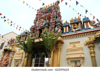 Indian temple in George town of Penang