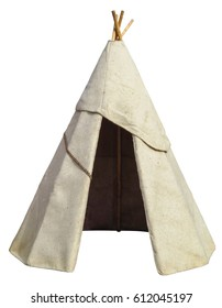 Indian Tent isolated on white. Clipping path included