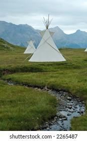 Indian tents in Ecrins National Park (French Alp)