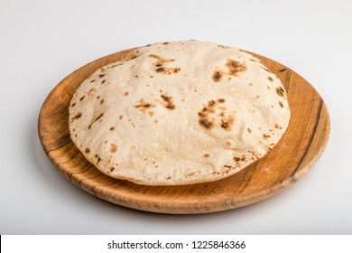 Indian Traditional Cuisine Chapati The Phooli ( Air filled) Roti, Fulka, Indian Bread, Flatbread, Whole Wheat Flat Bread, Chapathi, Wheaten Flat Bread, Chapatti, or Chappathi