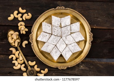 Indian Traditional Dessert Kaju Katli