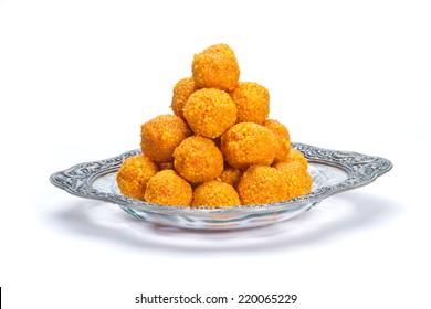 Indian Traditional Diwali sweets called Motichoor Ladoo