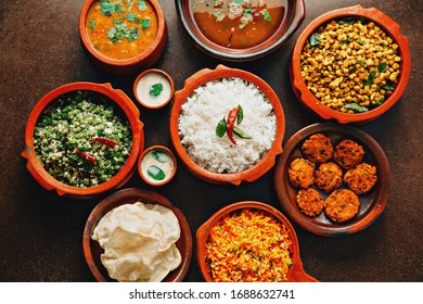 Indian Traditional Foods On The Table