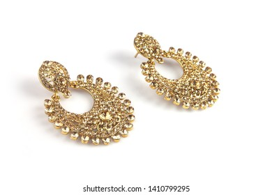 Indian Traditional Gold Weddng Earrings