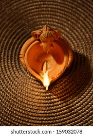 An Indian traditional oil lamp