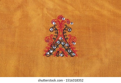 Indian Traditional Silk Saree with Embroidery Work