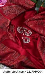 Indian traditional silk sari,Banarasi Saree with yellow and gold border.For Indian And Asian Women.