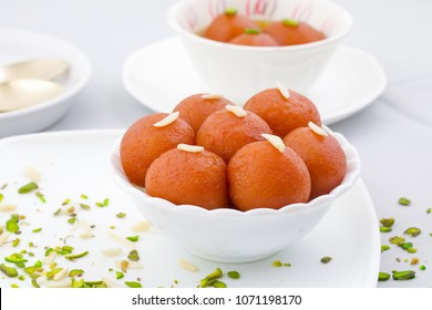 Indian Traditional Special Sweet Food Gulab Jamun