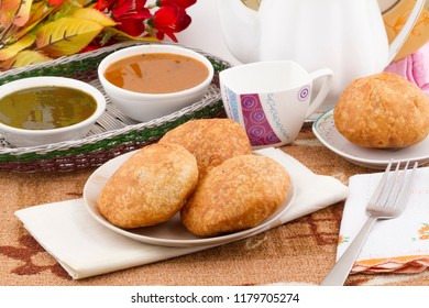 Indian Traditional spicy street food Kachori