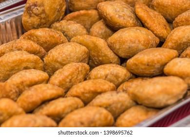 Indian Traditional spicy street food Kachori. Kai Kachori