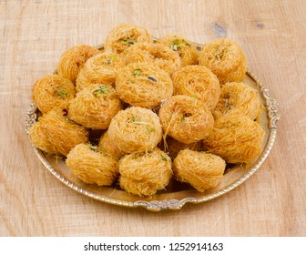 Indian Traditional Sweet Food Desi Ghee Ki Pheni Also Know as Sutarfeni, Firni, Seviyan, Laccha, Feni or Fini maid from maida, Sugar and Flavor