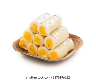 Indian Traditional Sweet food Kaju Roll