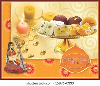 Indian Tradtional Sweets for all occasion - Shutterstock ID 1587670333