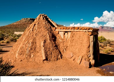 Indian Tribe Hualapai Sweat Lodge In Arizona Desert by the grand canyon