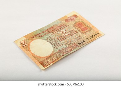 Indian Two rupees currency note