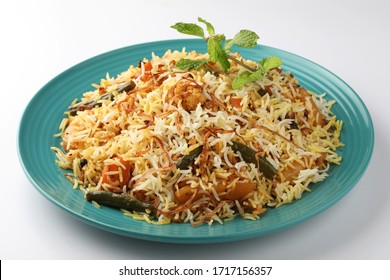 Indian Vegetable  Biryani made using Basmati Rice