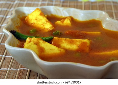 An Indian vegetarian meal Cottage Cheese Paneer