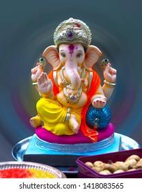 Indian very brilliant Hindu God Ganpati
