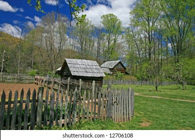 The Indian village in the Great Smoky Mountain National Park