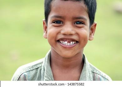 Indian Village Little Boy
