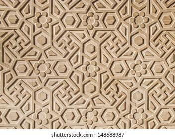 Indian wall pattern. Fatehpur Sikri.