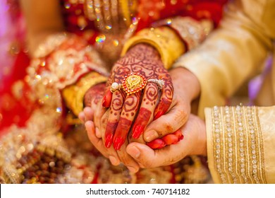 Royalty Free Indian Wedding Holding Hands Stock Images Photos