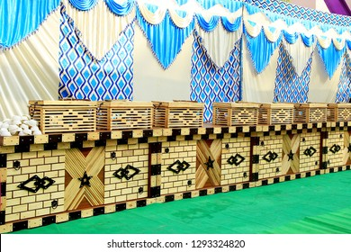 Indian Wedding. Banquet setup, Wedding Day
