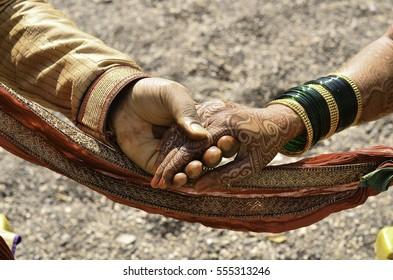 Indian Wedding-  Couple Holding Hand