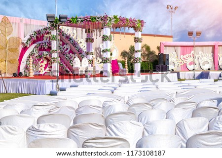 Indian Wedding Event Mandap Decoration Ideas Stock Photo Edit Now