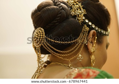 Indian Wedding Girl Hair Style Indian Stock Photo Edit Now