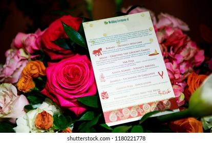 Indian wedding program card Karachi, Pakistan September 01, 2018