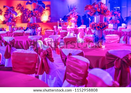 Indian Wedding Reception Dinner Table Chairs Stock Photo Edit Now