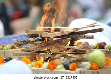 Indian wedding ritual. Indian vedic fire marriage ceremony. A authentic ritual  rite
