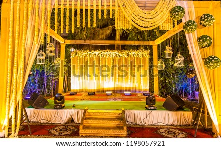 Indian Wedding Stage Indian Wedding Decoration Indian Stock Photo