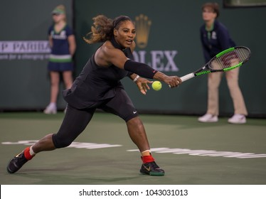 INDIAN WELLS, CA - MAR 05-18: Serena Williams at the BNP PARIBAS OPEN Tennis Tournament in Indian Wells, CA on March 08, 2018