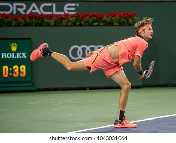 INDIAN WELLS, CA - MAR 05-18: Jared Donaldson at the BNP PARIBAS OPEN Tennis Tournament in Indian Wells, CA on March 08, 2018