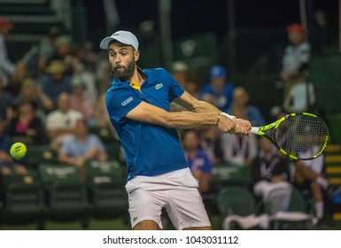 INDIAN WELLS, CA - MAR 05-18: Benoit Paire at the BNP PARIBAS OPEN Tennis Tournament in Indian Wells, CA on March 08, 2018