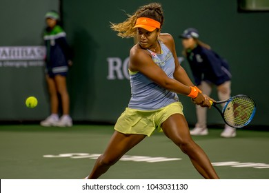 INDIAN WELLS, CA - MAR 05-18: Naomi Osaka at the BNP PARIBAS OPEN Tennis Tournament in Indian Wells, CA on March 07, 2018