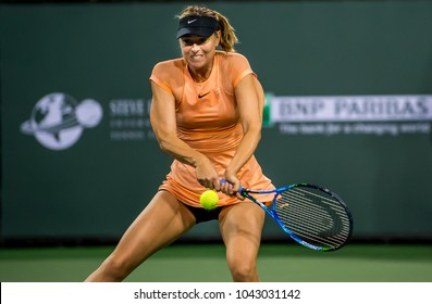 INDIAN WELLS, CA - MAR 05-18: Maria Sharapova at the BNP PARIBAS OPEN Tennis Tournament in Indian Wells, CA on March 07, 2018