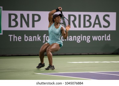INDIAN WELLS, CA - MAR 05-18: Sachia Vickery at the BNP PARIBAS OPEN Tennis Tournament in Indian Wells, CA on March 09, 2018