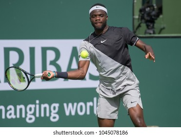INDIAN WELLS, CA - MAR 05-18: Frances Tiafoe at the BNP PARIBAS OPEN Tennis Tournament in Indian Wells, CA on March 09, 2018