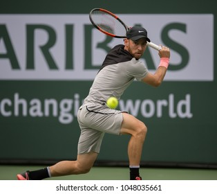 INDIAN WELLS, CA - MAR 05-18: Dudi Sela at the BNP PARIBAS OPEN Tennis Tournament in Indian Wells, CA on March 13, 2018