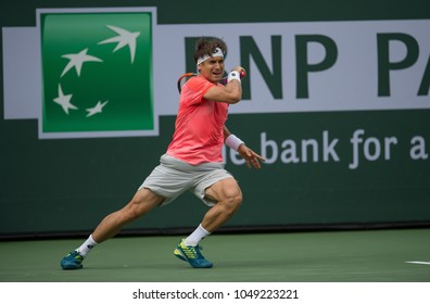 INDIAN WELLS, CA - MAR 05-18: David Ferrer at the BNP PARIBAS OPEN Tennis Tournament in Indian Wells, CA on March 13, 2018