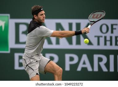 INDIAN WELLS, CA - MAR 05-18: Juan Martin Del Potro at the BNP PARIBAS OPEN Tennis Tournament in Indian Wells, CA on March 13, 2018