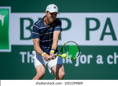 INDIAN WELLS, CA - MAR 05-18: Sam Querrey at the BNP PARIBAS OPEN Tennis Tournament in Indian Wells, CA on March 16, 2018