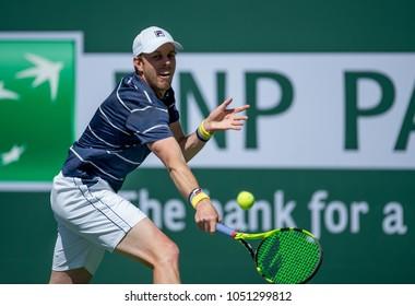 INDIAN WELLS, CA - MAR 05-18: Sam Querrey at the BNP PARIBAS OPEN Tennis Tournament in Indian Wells, CA on March 16, 2018