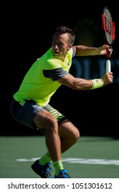 INDIAN WELLS, CA - MAR 05-18: Philipp Kohlschreiber at the BNP PARIBAS OPEN Tennis Tournament in Indian Wells, CA on March 16, 2018