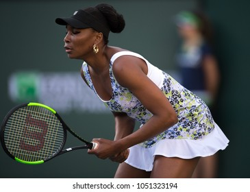 INDIAN WELLS, CA - MAR 05-18: Venus Williams at the BNP PARIBAS OPEN Tennis Tournament in Indian Wells, CA on March 15, 2018