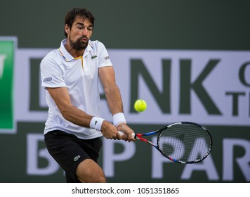 INDIAN WELLS, CA - MAR 05-18: Jeremy Chardy at the BNP PARIBAS OPEN Tennis Tournament in Indian Wells, CA on March 14, 2018