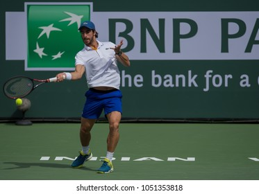 INDIAN WELLS, CA - MAR 05-18: Pablo Cuevas at the BNP PARIBAS OPEN Tennis Tournament in Indian Wells, CA on March 14, 2018